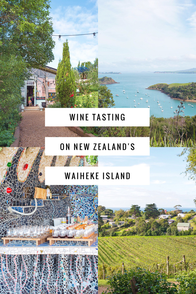 Wine tasting in New Zealand on Waiheke Island, voted by Conde Nast Traveler as the #4 best island in the world