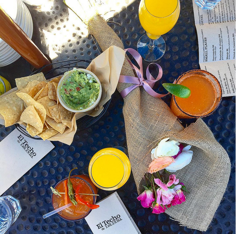Open-air rooftop brunch in San Francisco's Mission district at El Techo