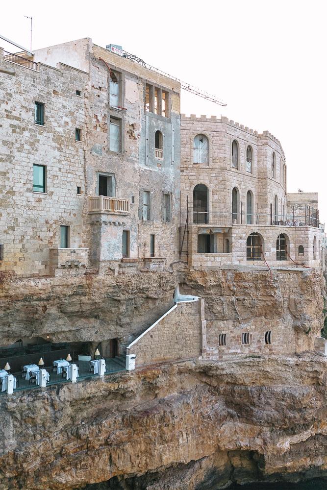 Ristorante Hotel Grotta Palazzese in Polignano a Mare, Puglia, Italy.  The most amazing dinner spot!