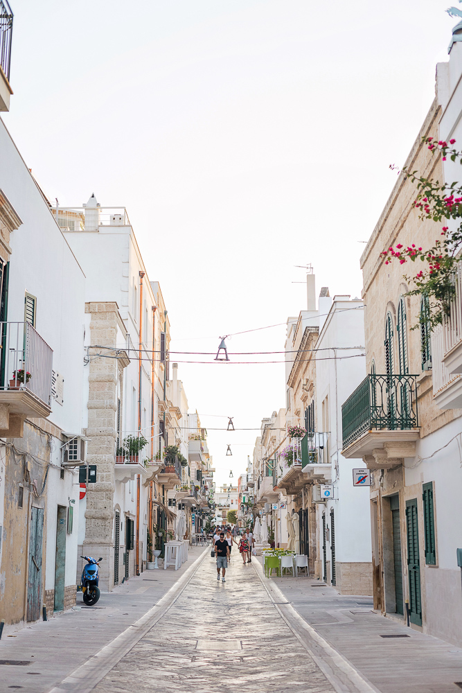 The streets of Polignano a Mare, Puglia, Italy