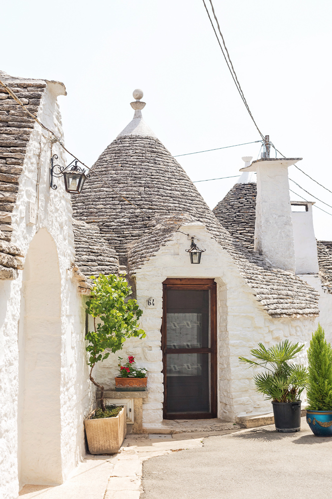 Unique trullo buildings in Alberobello, Puglia, Italy