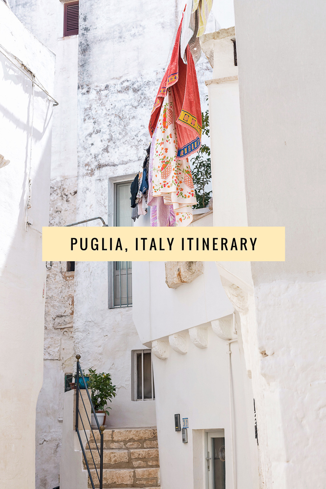 The perfect Puglia road trip itinerary, including Polignano a Mare, Alberobello, Gallipoli, Ostuni, Locorotondo and more!