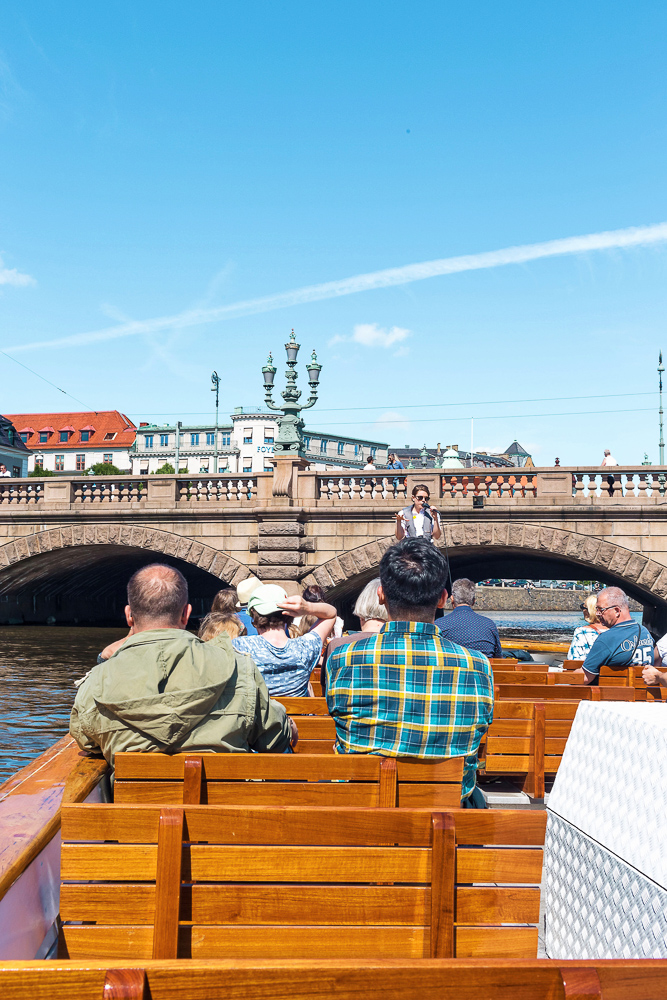 Paddan Boats tour - a sightseeing tour along the canals of Gothenburg.  It takes you under 20 bridges and is a great way to start your Gothenburg visit!