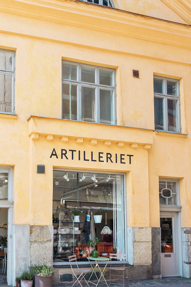 Artilleriet Interiors, an interior design store located in Gothenburg, Sweden