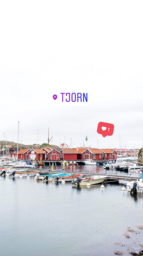 The picturesque harbor in Skärhamn on the island of Tjörn
