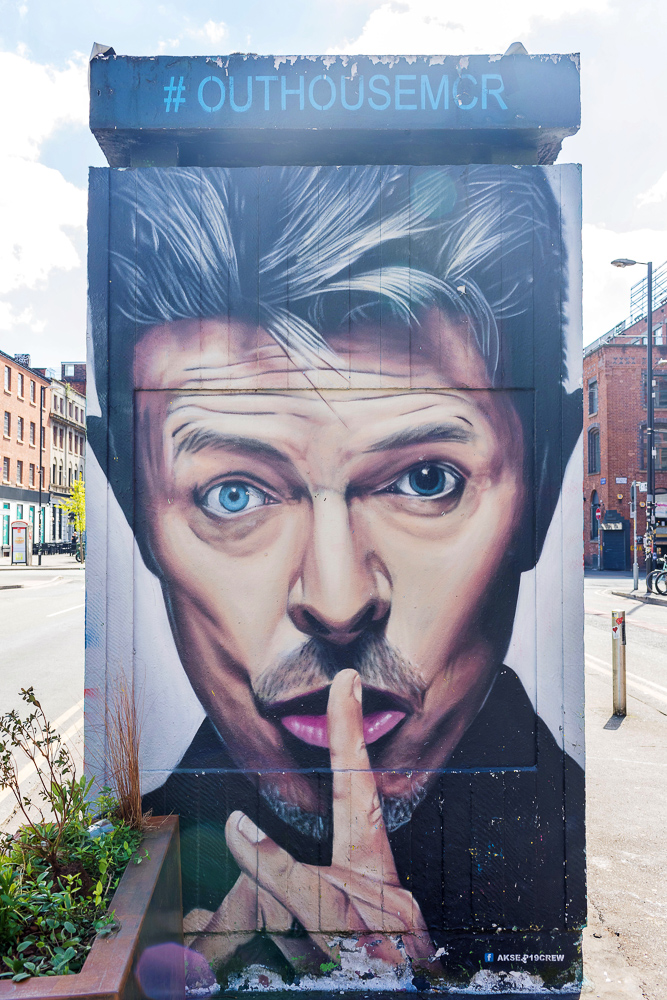 A famous art piece in the Northern Quarter of Manchester