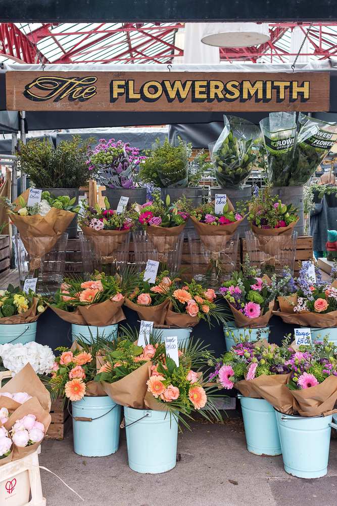 The Flowersmith display at Altrincham Market