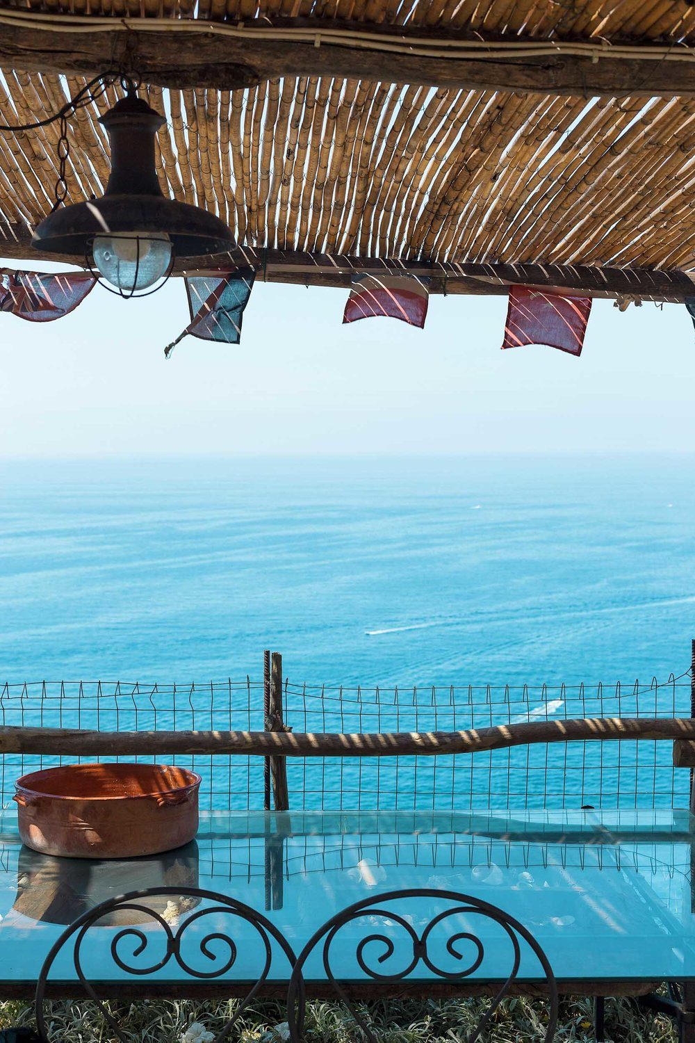 Endless ocean views from Calante Luna Relais in Praiano