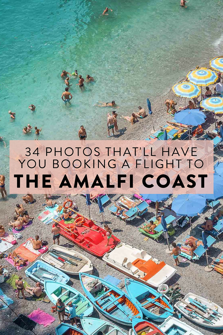 34 pictures of the Amalfi Coast that will make you want to book a flight immediately! A scooter tour photo guide to Positano, Amalfi, Atrani, Praiano, Furore, and more.