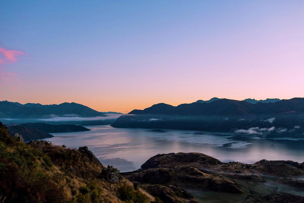 Sunrise over Lake Wanaka