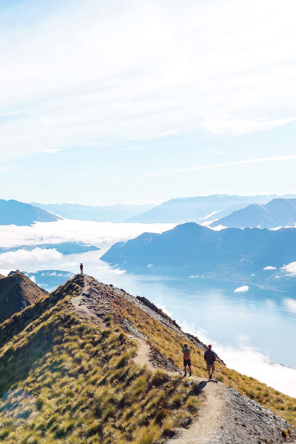Magnificent views from the top of Roys Peak in Wanaka, New Zealand