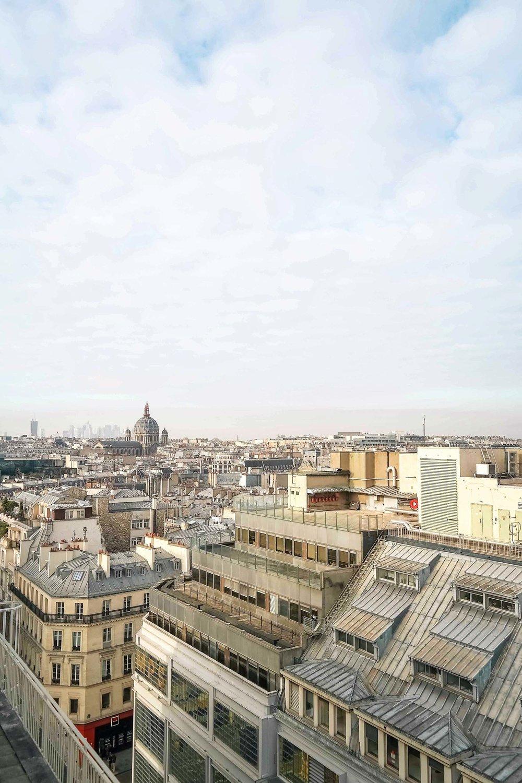 Clear skies and views of Paris in December