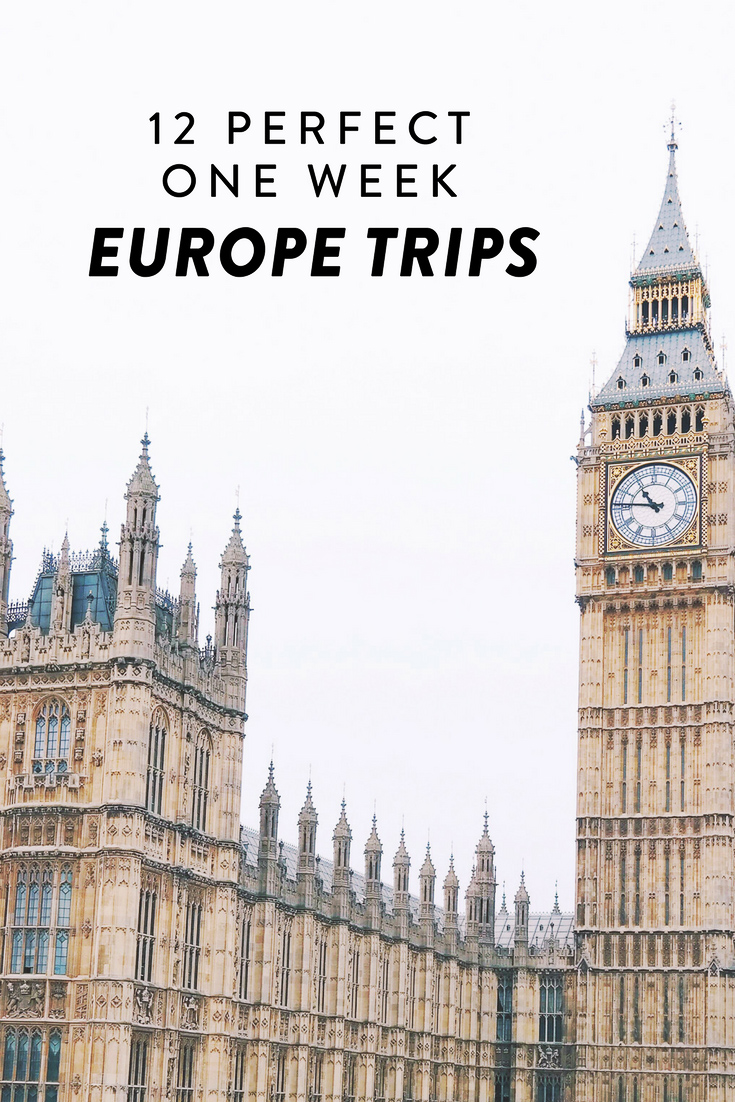 Are you planning a trip to Europe? Here are 12 amazing one week Europe itineraries. See the best of Europe, including Copenhagen, the Croatian islands, Cinque Terre, and more!