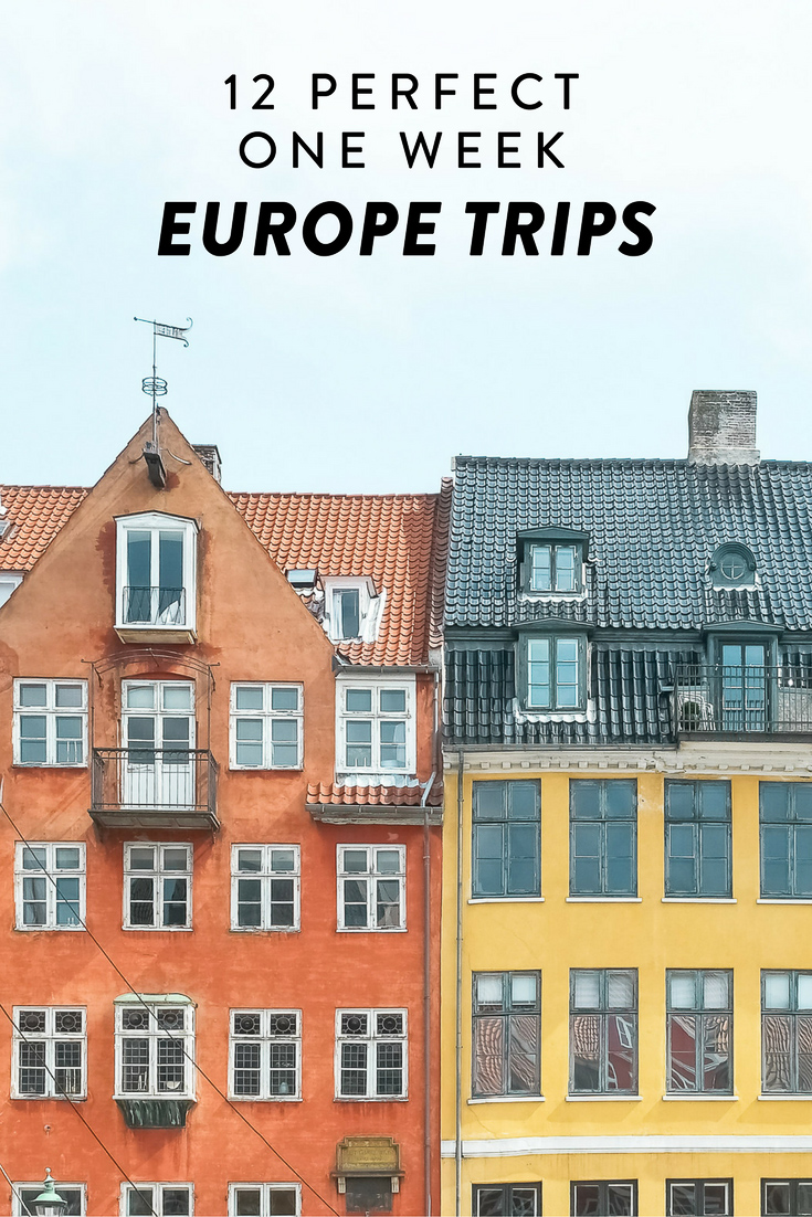 Planning a one week holiday in Europe? Here are 12 perfect trips you can take! Including Denmark, Sweden, Germany, Croatia, and more.