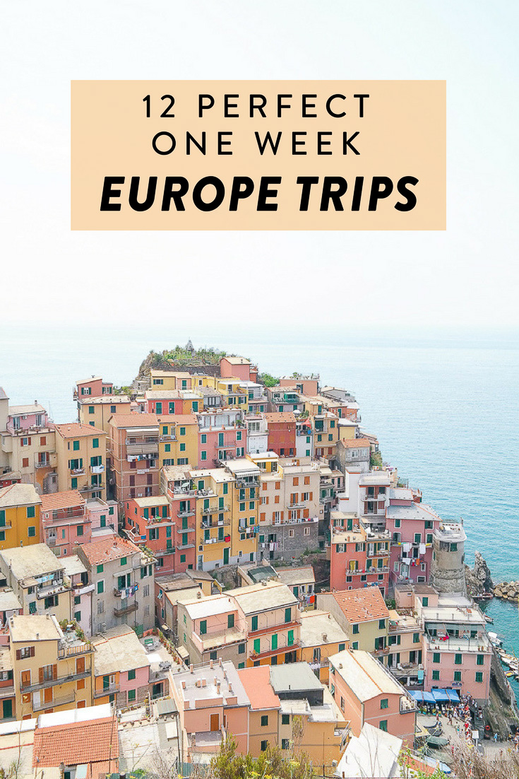 Are you planning a trip to Europe? Here are 12 amazing one week Europe itineraries.  See the best of Europe, including Cologne, Antwerp, Paris, Florence, and more!