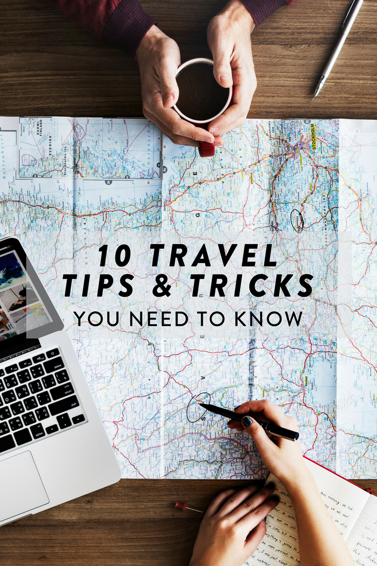 Ten of my best travel tips, tricks and hacks - everything from my secret to getting pretty photos on gloomy winter days to my fav accessory that can be used as a dozen different things!