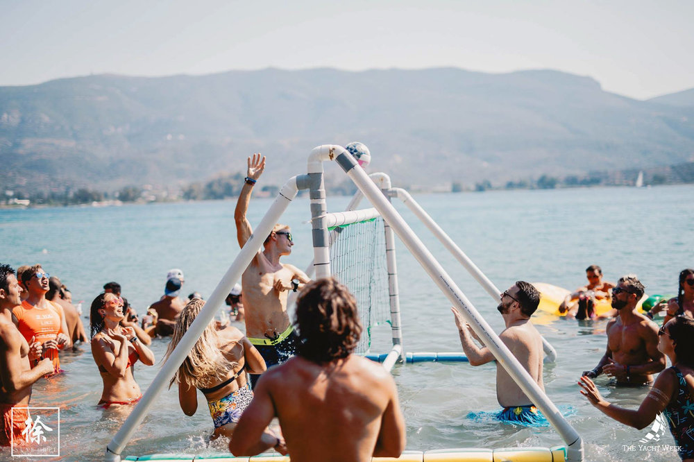 beach and sea volleyball at The Yacht Week Greece
