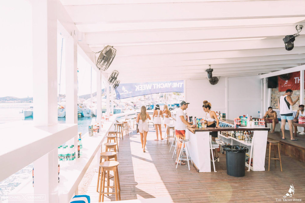 World famous Yacht Week White Party at Cava Bianco in Ermioni
