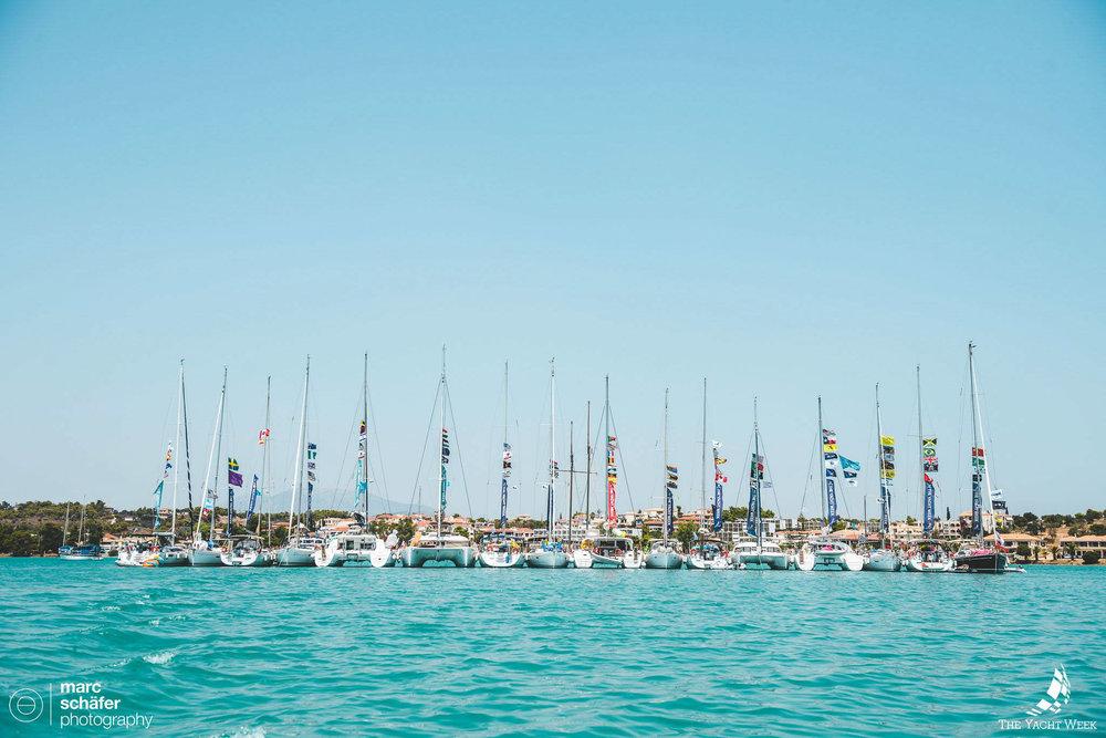 The Yacht Week raft in Porto Heli