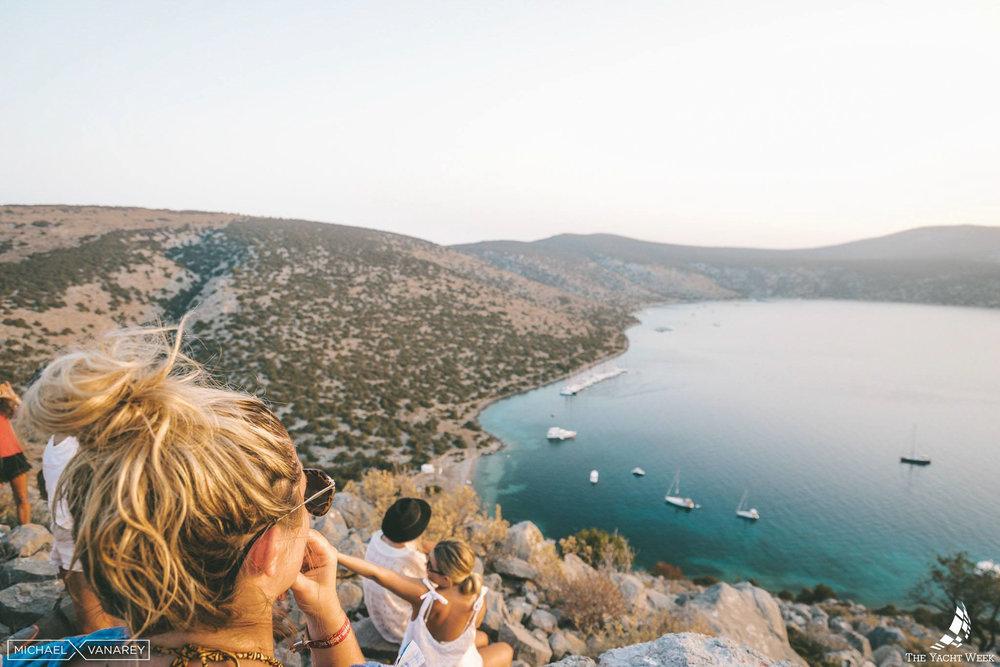 Views over Dokos in Greece