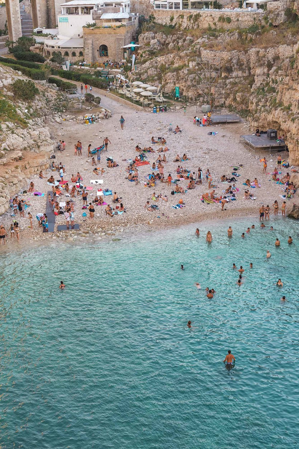 Polignano A Mare, home of Grotta Palazzese - famous cave restaurant in Italy!