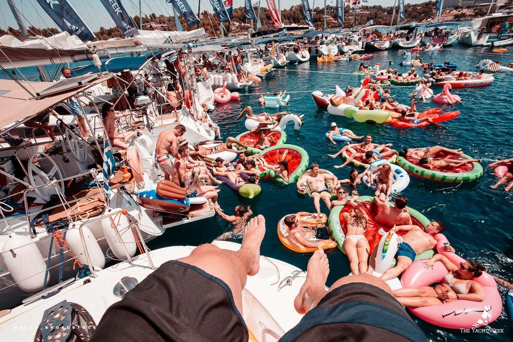 The famous Yacht Week circle raft