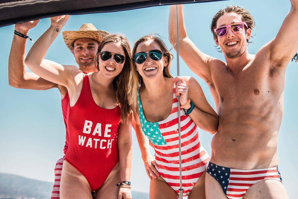 American themed at The Yacht Week regatta