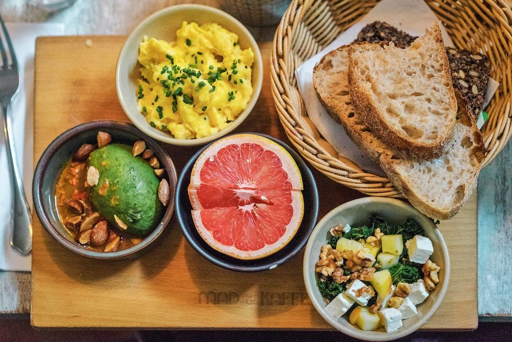 A delicious brunch at Mad & Kaffe in Vesterbro in Copenhagen