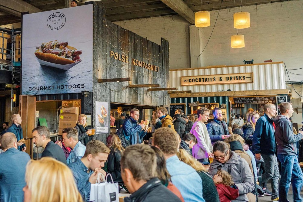 The Copenhagen street food market on Paper Island (Papirøen)