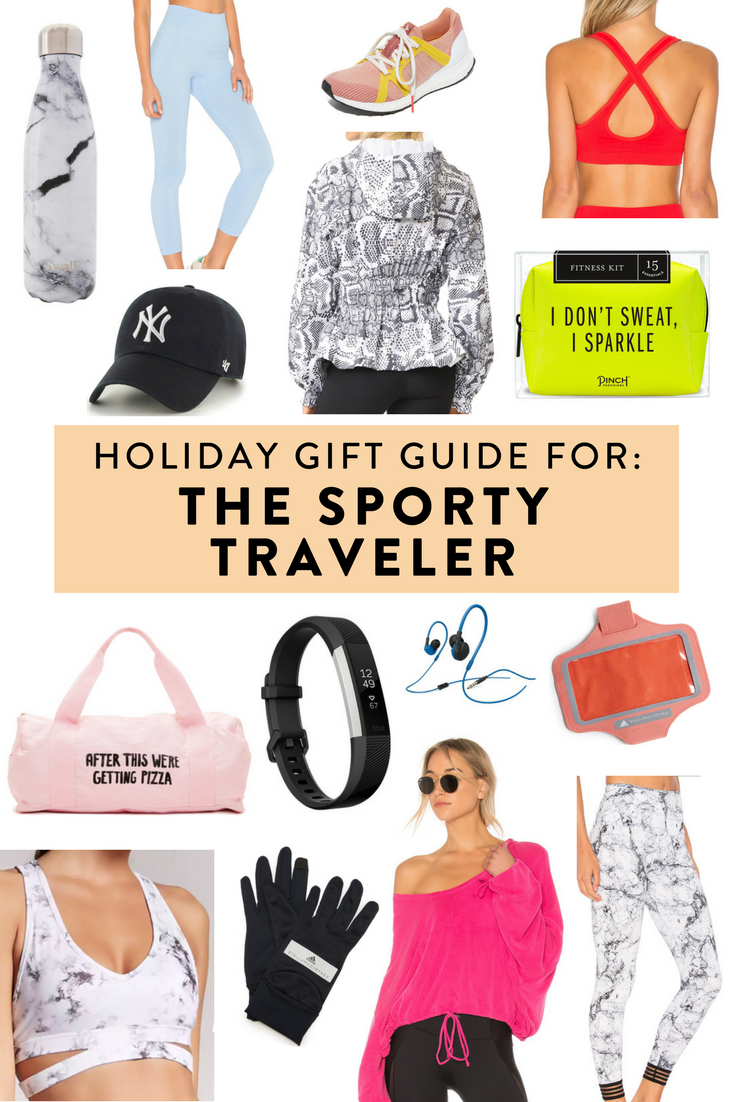 Holiday gift guide for the sporty traveler.   Unique gifts at every price point for the active traveler in your life!