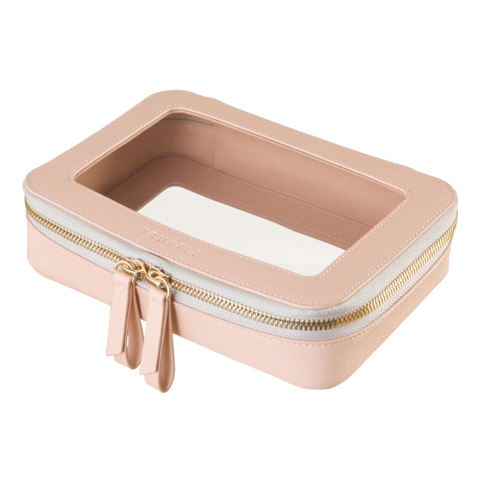 Jetset Case - A TSA-approved carry-on companion.  Perfect for jewelry, travel sized liquids, and more.