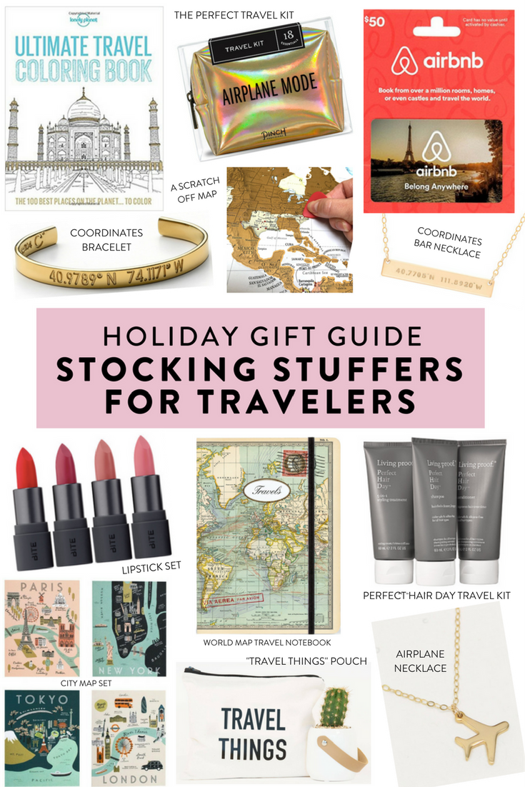 Holiday gift guide: stocking stuffers for travelers. Unique stocking stuffer gifts at every price point for the traveler in your life!