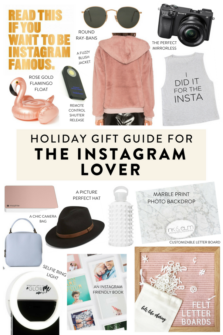 Holiday gift guide for the Instagram lover.   Unique gifts at every price point for the Instagrammer in your life!