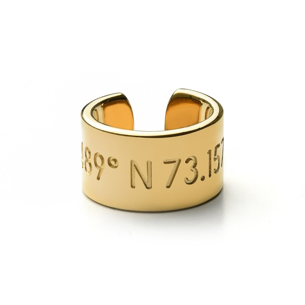 Coordinates Collection Horizon ring - custom coordinates gold jewelry