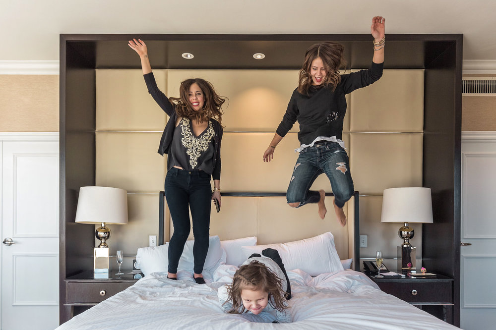 Jumping for joy in the Presidential/Sparkle Suite at The Fairmont San Francisco