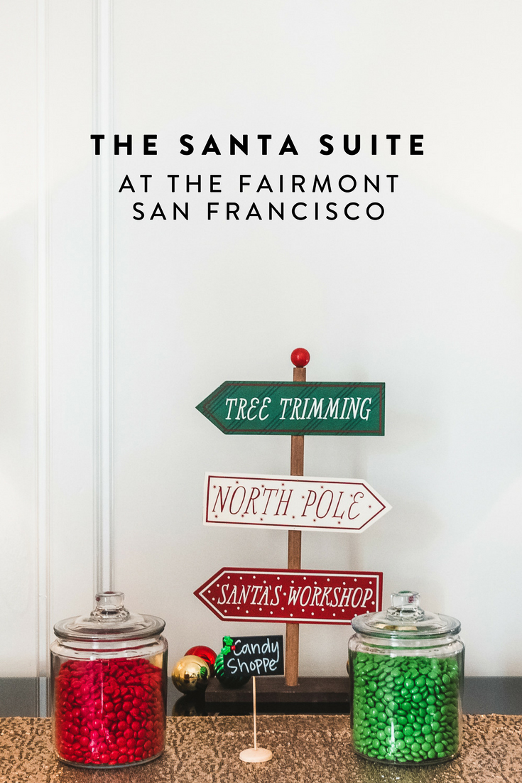 The Fairmont San Francisco has a Santa Suite and you must stay there! The most Christmas-y thing you can do in SF. Also see the world-famous, life sized gingerbread house, 23-foot tree, and more.