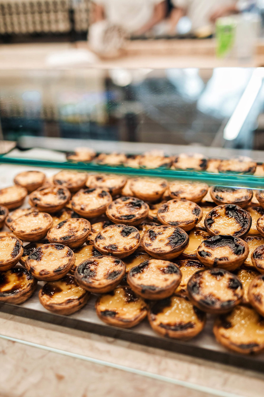 Pastel de nata at Manteigaria, the best place to get them in Lisbon, Portugal!