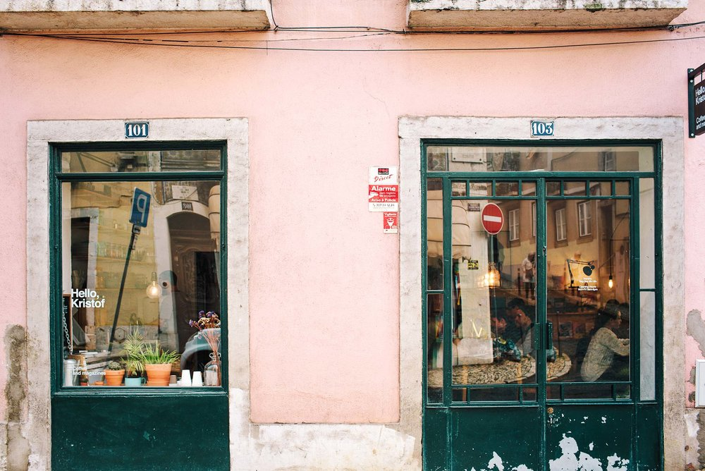 Hello, Kristof - an excellent coffee shop in Bairro Alto, Lisbon, Portugal