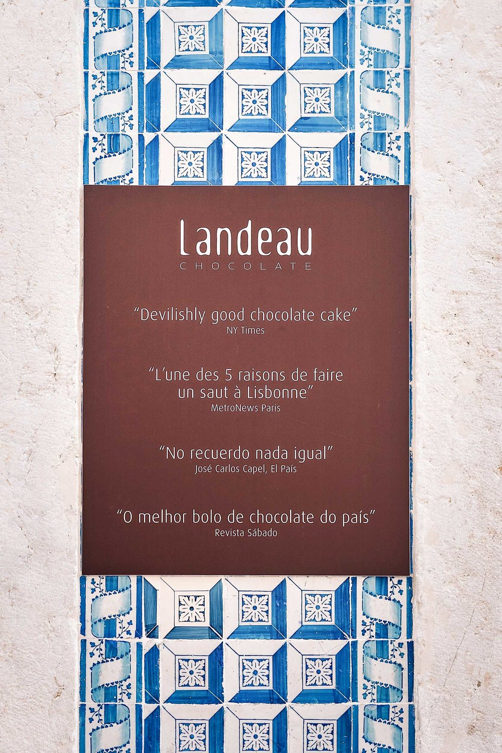 Landeau Chocolate offers two things and two things only - chocolate cake and coffee.