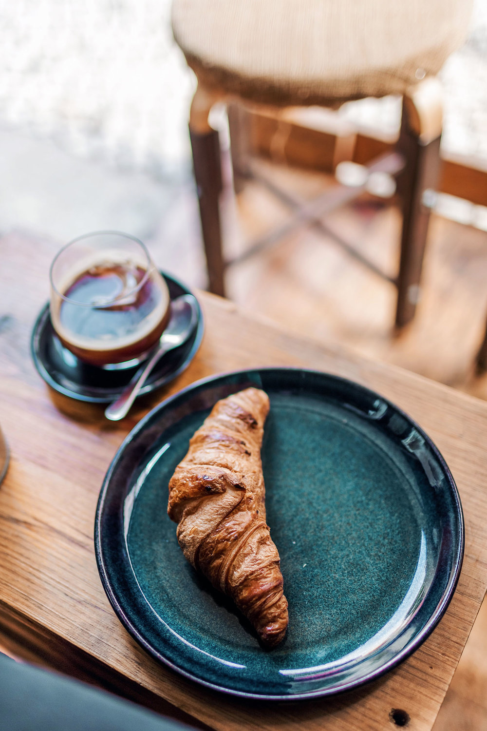 Fabrica Coffee Roasters in Lisbon offers coffee, beer, and light bites like sandwiches and pastries