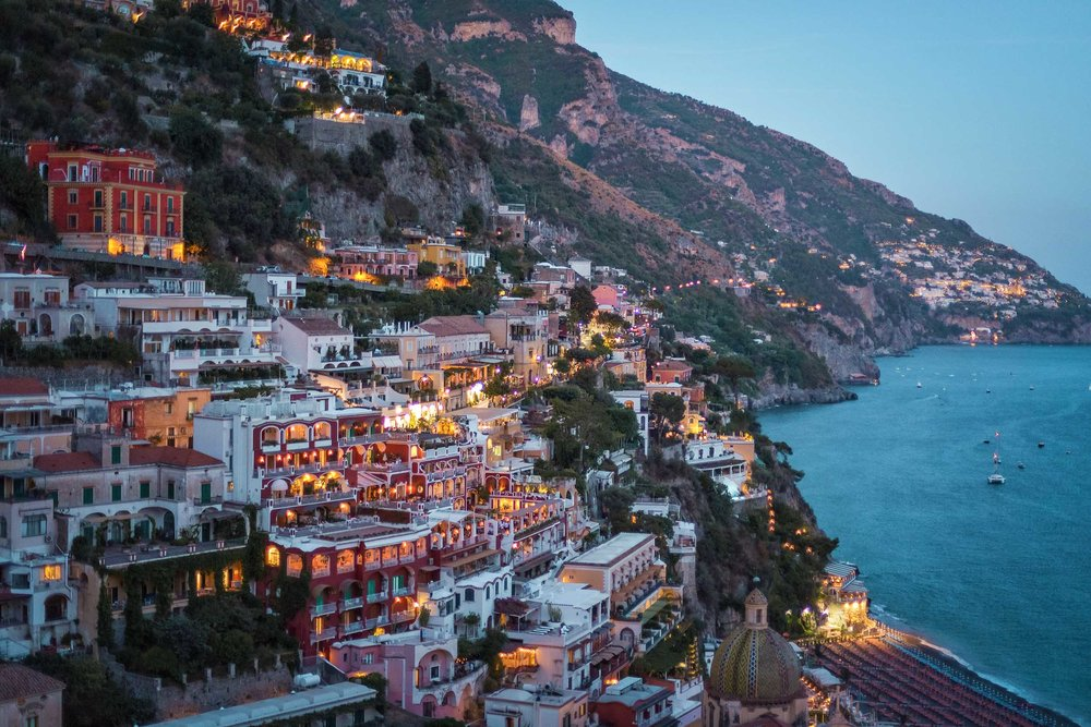 The view from Hotel Poseidon in Positano, Italy