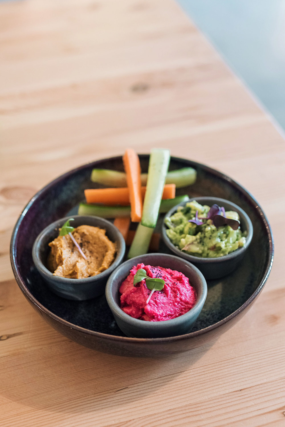 Veggie fingers at Fauna & Flora in Lisbon. The perfect spot to grab a healthy snack!