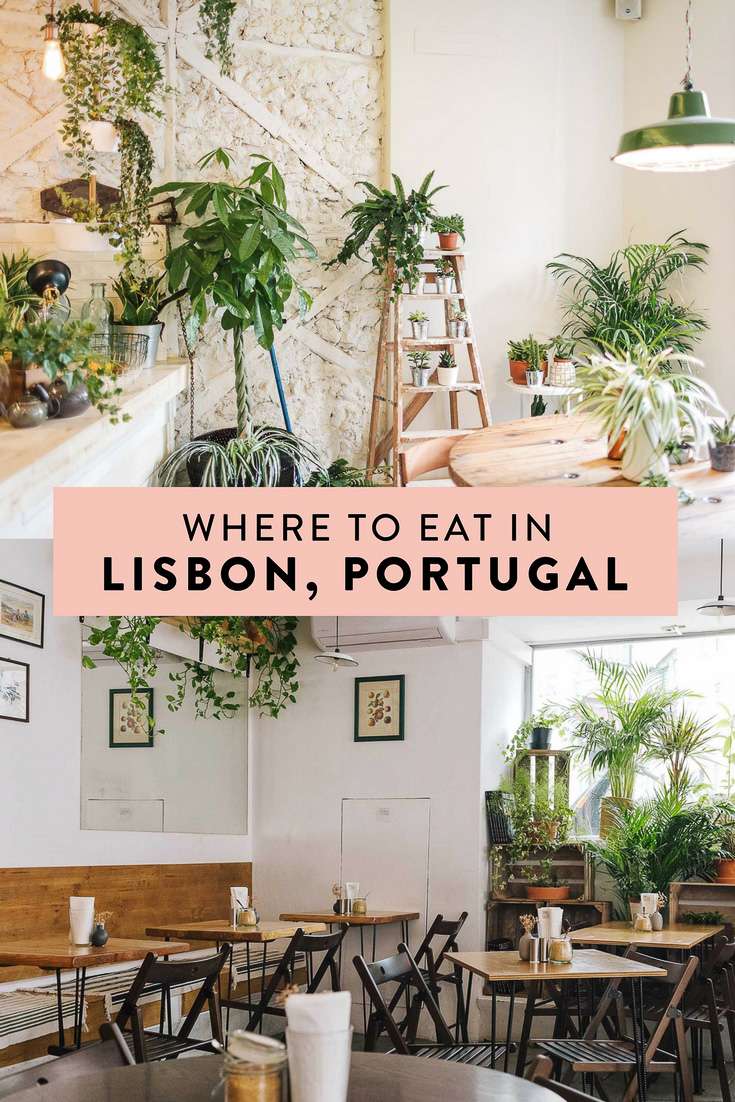 Where to eat in Lisbon, Portugal. The best restaurants featuring healthy, fresh, local ingredients and the most beautiful, Instagrammable spaces!