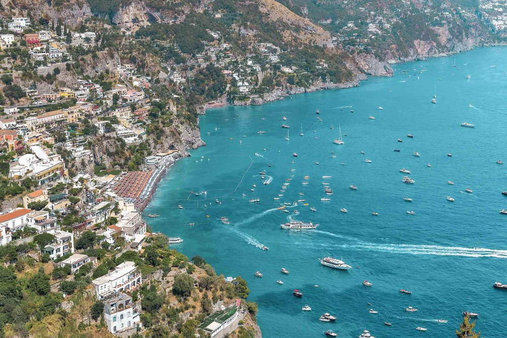 Positano on the Amalfi Coast, one of the top towns to see while visiting