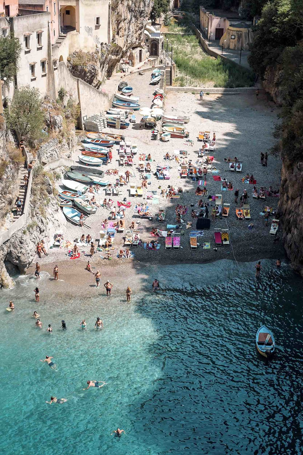 The hidden beach of Fiordo di Furore
