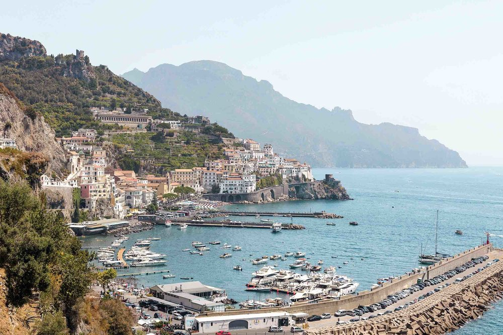 The town of Amalfi on the Amalfi Coast