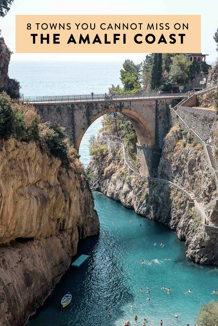 A guide to eight towns on Italy's Amalfi Coast that you shouldn't miss, including Positano, Furore, Ravello, Praiano, and more!