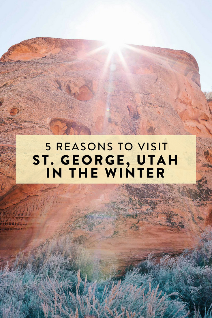 Zion National Park and St. George, Utah in general are popular destinations, but what time of year is best to visit? Winter, and here are 5 reasons why!