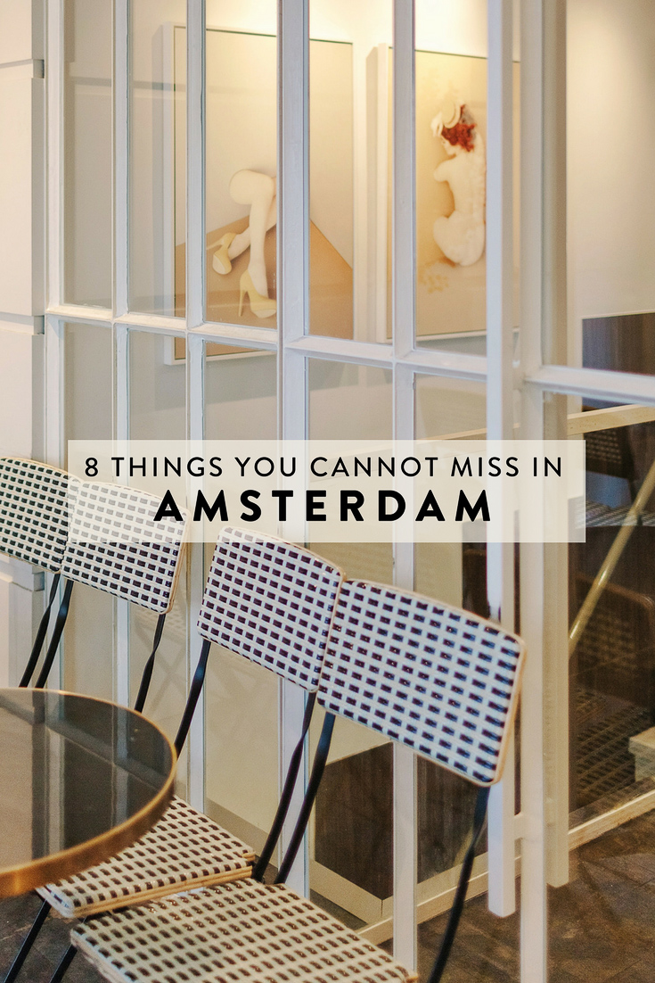 A guide to visiting Amsterdam - 8 things to see, do, eat, and drink that you absolutely cannot miss!  The best, non-cliche, off-the-beaten-path things