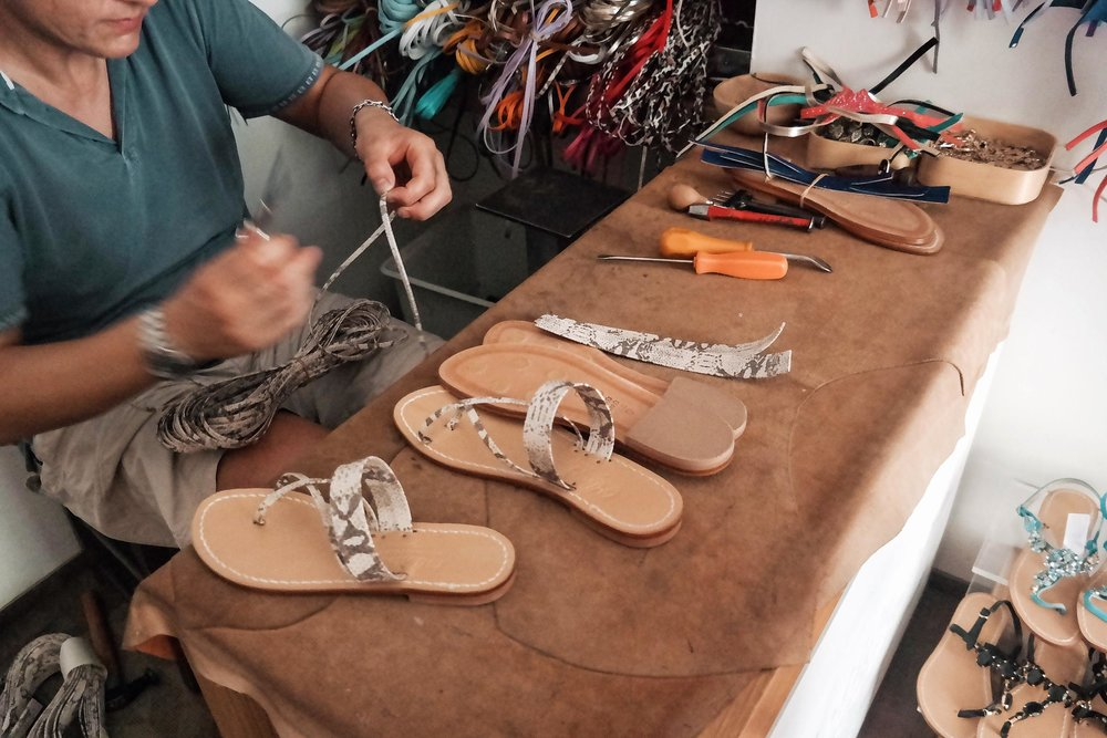Buy local, handmade, custom sandals in Positano